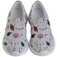 Grey Toned Pattern Kids  Lightweight Slip Ons