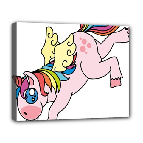 Unicorn Arociris Raimbow Magic Deluxe Canvas 20  X 16  (stretched)