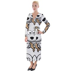 Bear Polar Bear Arctic Fish Mammal Velvet Maxi Wrap Dress