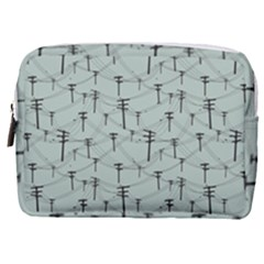 Telephone Lines Repeating Pattern Make Up Pouch (medium)