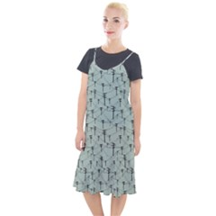 Telephone Lines Repeating Pattern Camis Fishtail Dress by Sudhe