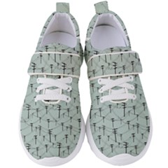 Telephone Lines Repeating Pattern Women s Velcro Strap Shoes