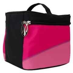 Geometric Shapes Magenta Pink Rose Make Up Travel Bag (small)