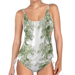 Trees Tile Horizonal Tankini Set