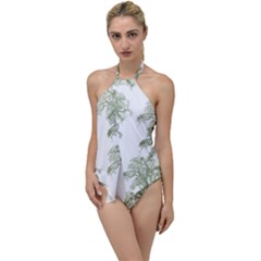 Trees Tile Horizonal Go With The Flow One Piece Swimsuit