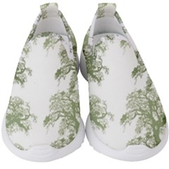 Trees Tile Horizonal Kids  Slip On Sneakers