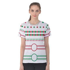 Christmas Borders Frames Holiday Women s Cotton Tee