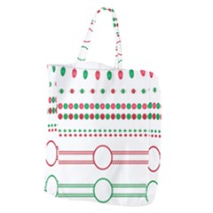 Christmas Borders Frames Holiday Giant Grocery Tote