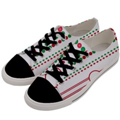 Christmas Borders Frames Holiday Men s Low Top Canvas Sneakers by Sudhe