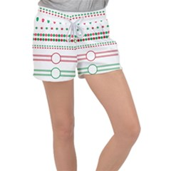 Christmas Borders Frames Holiday Women s Velour Lounge Shorts