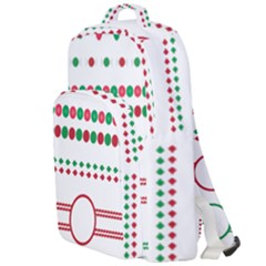 Christmas Borders Frames Holiday Double Compartment Backpack