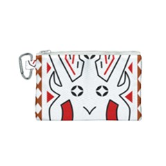 Traditional Art Torajan Pattern Canvas Cosmetic Bag (small)