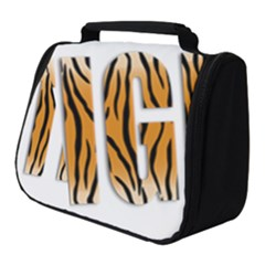 Tiger Bstract Animal Art Pattern Skin Full Print Travel Pouch (small)