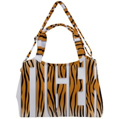 Tiger Bstract Animal Art Pattern Skin Double Compartment Shoulder Bag