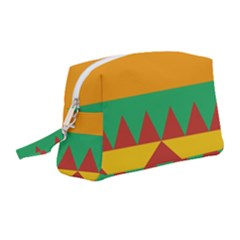 Burger Bread Food Cheese Vegetable Wristlet Pouch Bag (medium)