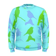 Bird Watching   Light Blue Green  Men s Sweatshirt