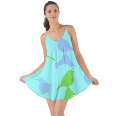 Bird Watching   Light Blue Green  Love The Sun Cover Up