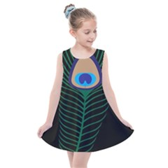 Peacock Feather Kids  Summer Dress by Sudhe