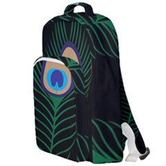 Peacock Feather Double Compartment Backpack