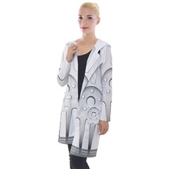 Wheel Skin Cover Hooded Pocket Cardigan