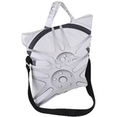 Wheel Skin Cover Fold Over Handle Tote Bag