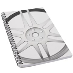 Wheel Skin Cover 5 5  X 8 5  Notebook