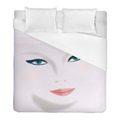 Face Beauty Woman Young Skin Duvet Cover (full/ Double Size) by Sudhe