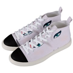 Face Beauty Woman Young Skin Men s Mid-top Canvas Sneakers by Sudhe