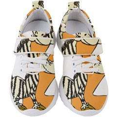 Zebra Animal Alphabet Z Wild Kids  Velcro Strap Shoes