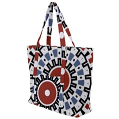 Mandala Art Ornament Pattern Zip Up Canvas Bag