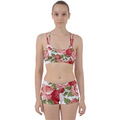 Flower Rose Pink Red Romantic Perfect Fit Gym Set