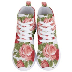 Flower Rose Pink Red Romantic Women s Lightweight High Top Sneakers