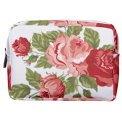 Flower Rose Pink Red Romantic Make Up Pouch (medium)