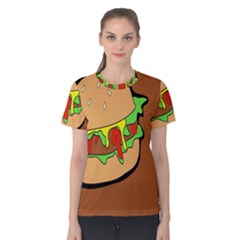 Burger Double Women s Cotton Tee