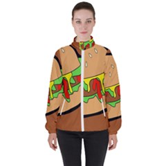 Burger Double High Neck Windbreaker (women)