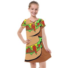 Burger Double Kids  Cross Web Dress
