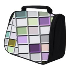 Color Tiles Abstract Mosaic Background Full Print Travel Pouch (small)