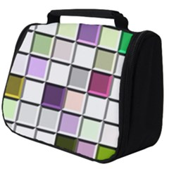 Color Tiles Abstract Mosaic Background Full Print Travel Pouch (big)