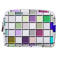 Color Tiles Abstract Mosaic Background Make Up Pouch (medium)