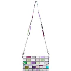 Color Tiles Abstract Mosaic Background Mini Crossbody Handbag