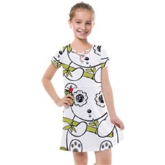 Panda China Chinese Furry Kids  Cross Web Dress