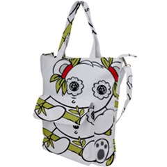 Panda China Chinese Furry Shoulder Tote Bag