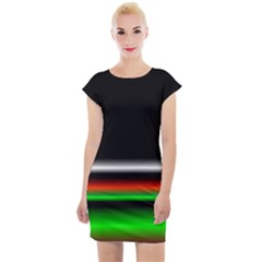 Colorful Neon Background Images Cap Sleeve Bodycon Dress