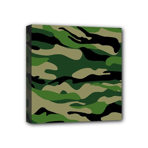 Green Military Vector Pattern Texture Mini Canvas 4  X 4  (stretched)