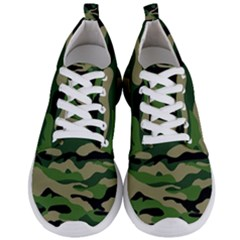 Green Military Vector Pattern Texture Men s Lightweight Sports Shoes
