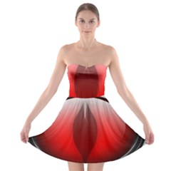 Red Eye Strapless Bra Top Dress