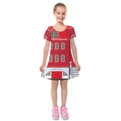 Red House Kids  Short Sleeve Velvet Dress by Sudhe