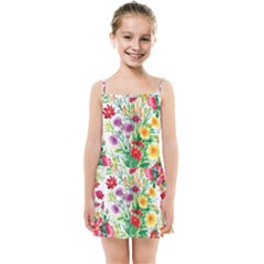 Painting Flowers Kids  Summer Sun Dress by goljakoff