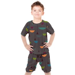 Zappwaits Retro Kids  Tee And Shorts Set by zappwaits