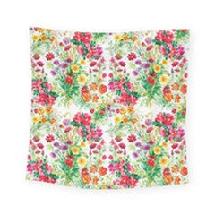 Summer Flowers Square Tapestry (small) by goljakoff